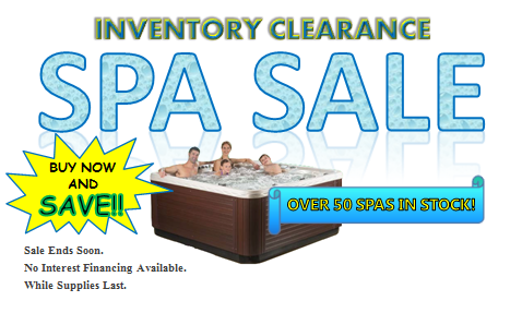 Spa Sale - Shop Now!