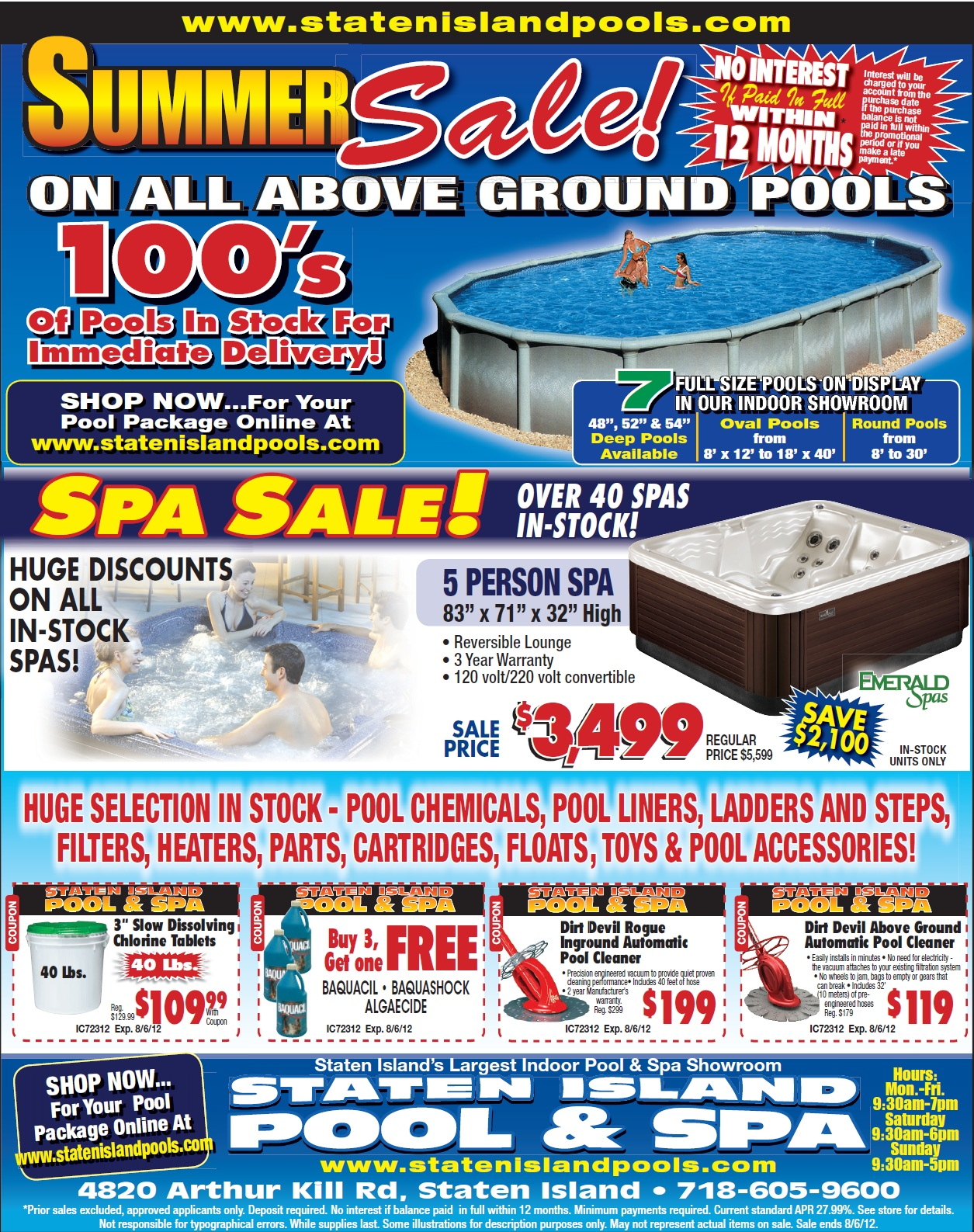 Current Staten Island Pool and Spa Promotions