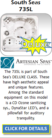 Hot Tub Spa Artesian South Seas 735L Staten Island Pool and Spa