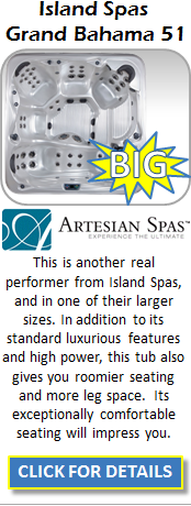 Hot Tub Spa Artesian Island Spas Grand Bahama 51 DF Staten Island Pool and Spa