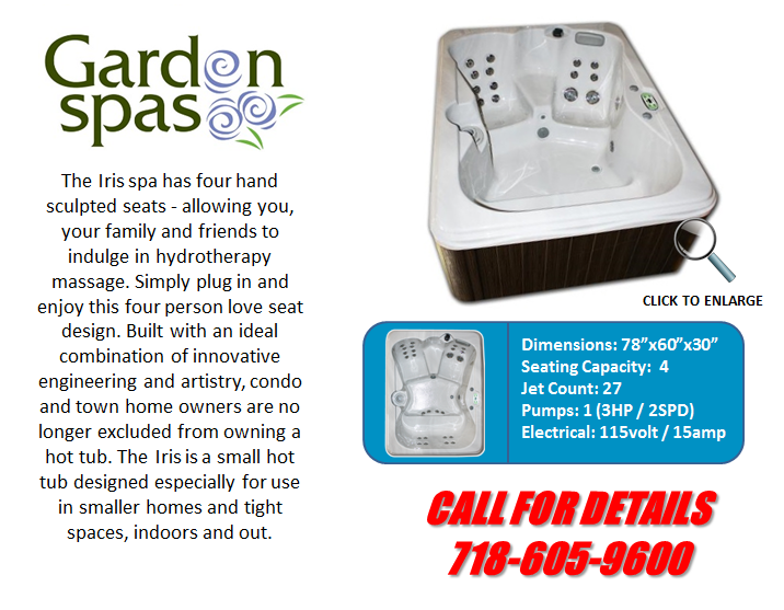 Hot Tub Spa Garden Spas Iris Artesian Spas Staten Island Pool and Spa