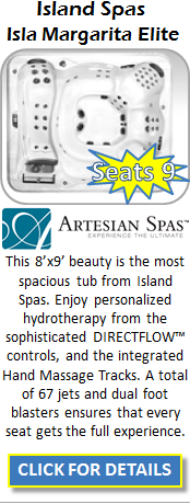 Hot Tub Spa Artesian Island Spas Ilsa Margarita ELITE Staten Island Pool and Spa