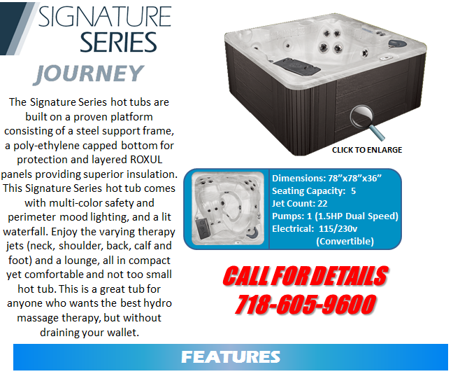 Hot Tub Spa Signature Series Spas Staten Island Pool and Spa