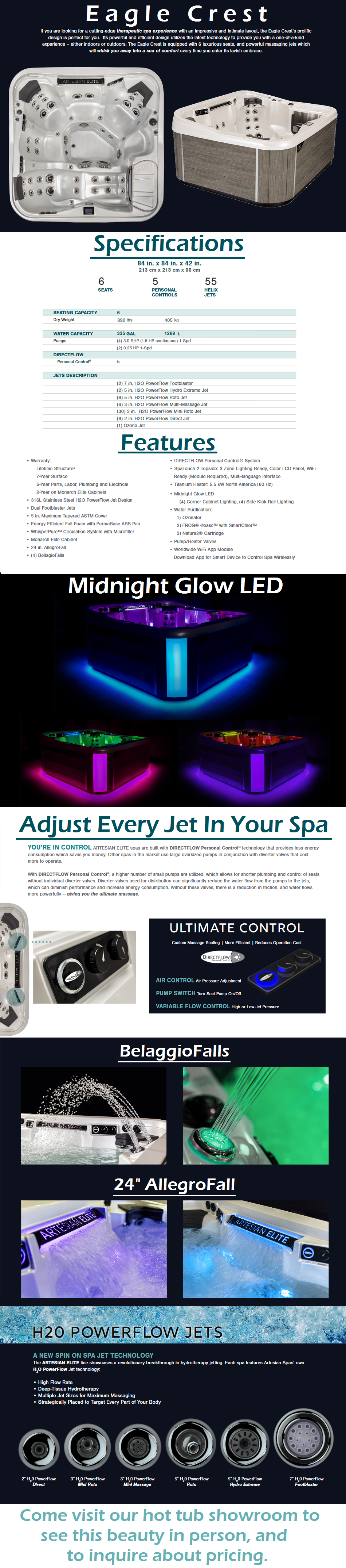 Artesian Elite Eagle Crest Hot Tub Spa Staten Island Pool and Spa New Jersey New York